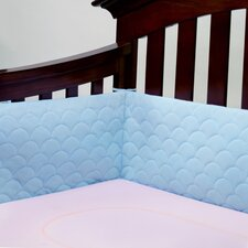Breathable and Padded Mesh Crib Bumper