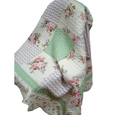 Quilted Spring Throw Blanket