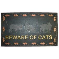Beware of Cat Doormat