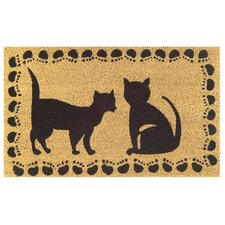 Tufted Two Cats Doormat