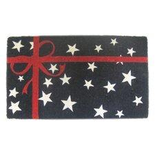 Woven Patriotic Present Doormat