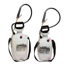 Commercial-Grade Polyethylene Sprayer with Flat Fan Nozzle in White / Black