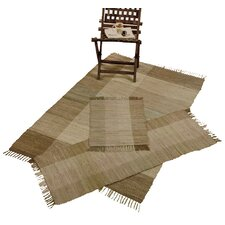 Check Chindi Beige 3 Piece Accent Area Rug Set