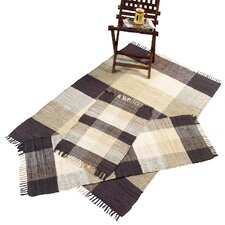 Check Chindi Natural 3 Piece Accent Area Rug Set