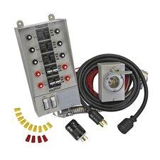 Pro / Tran 30 Amp 10 Circuit Manual Transfer Switch Kit