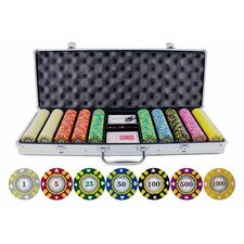 500 Piece Stripe Suited V2 Clay Poker Chips Set
