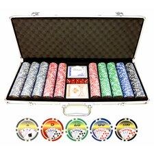 500 Piece Royal Flush Poker Chip Set