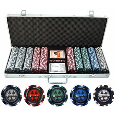 500 Piece Pro Poker Clay Poker Set