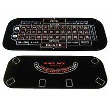 3 in 1 Poker Blackjack and Roulette Folding Table Top with Cup Holders
