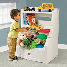 Lift and Hide Bookcase Toy Box with Lid