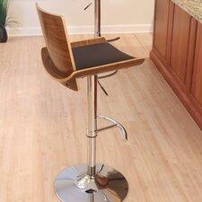 Vittorio Adjustable Height Swivel Bar Stool with Cushion