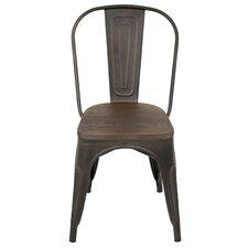 Oregon Side Chair in Antiqued Metal