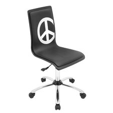 Peace Printed Task Chair