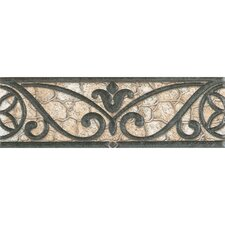"""Fashion Accents 3"""" x 8"""" Decorative Accents in Wrought Iron Beige"""