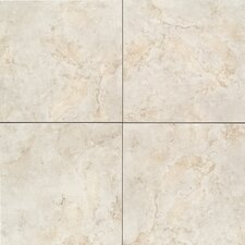"Brancacci 6"" x 6""  Ceramic Field Tile in Aria Ivory"