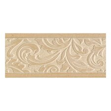 "Brixton 9"" x 4"" Decorative Wall Accent Tile in Bone"