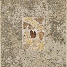 "Castle De Verre 12-13/16"" x 9-13/16"" Decorative Accent Tile in Grey Stone"