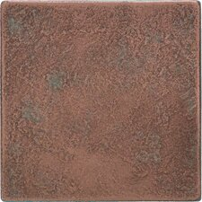 """Castle Metals 4-1/4"""" x 4-1/4"""" Decorative Wall Tile in Aged Copper"""