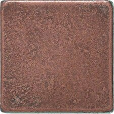 "Castle Metals 2"" x 2"" Basic Dot Decorative Accent Tile in Aged Copper"