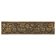 """Metal Signatures Jardin 12"""" x 3"""" Floor/Wall Border in Aged Bronze"""