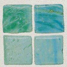 """Sonterra 1"""" x 1"""" Glass  Mosaic Tile in Verde"""