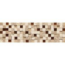 """Fidenza 9"""" x 2"""" Stone and Glass Accent Decorative Border"""