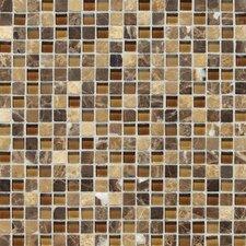 "Stone Radiance 0.63"" x 0.63"" Slate Mosaic Tile in Butternut Emperador"