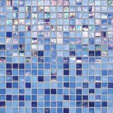 "City Lights 0.5"" x 0.5"" Glass Mosaic Tile in Capri"