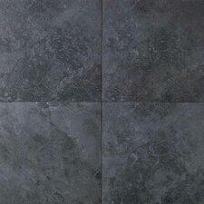 Continental Slate 18'' x 18'' Porcelain Field Tile in Asian Black