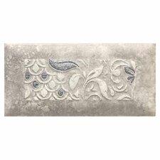 """Del Monoco 6-1/2"""" x 3-1/4"""" Glazed Decorative Tile in Leona Grigio"""