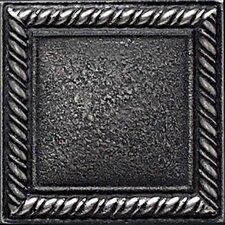 "Ion Metals 2"" x 2"" Decorative Rope Accent Tile in Antique Nickel"