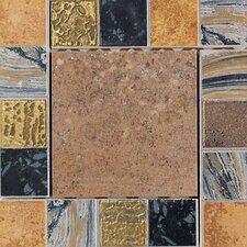 """Terra Antica 6"""" x 6"""" Decorative Accent Insert in Bruno"""