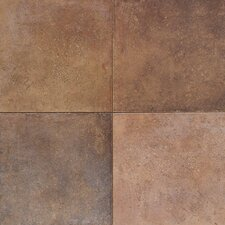 Terra Antica 6'' x 6'' Porcelain Field Tile in Bruno