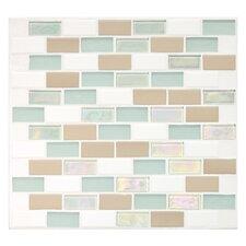 Keystones Blends 1'' x 2'' Porcelain Mosaic Tile in Trade Wind