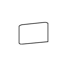 "Rittenhouse Square 6"" x 3"" Bullnose Corner Right Tile Trim in Arctic White"