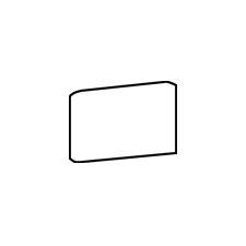 "Rittenhouse Square 6"" x 3"" Bullnose Corner Right Tile Trim in Matte Arctic White (Set of 3)"