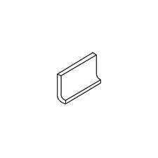 "Rittenhouse Square 6"" x 3"" Cove Base Tile Trim in Matte Arctic White (Set of 3)"