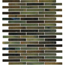 """Fashion Accents 0.63"""" x 3"""" Glass Mosaic Tile in Meadow"""