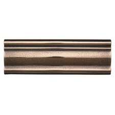 """Metal Ages 12"""" x 4"""" Glazed Chair Rail Tile Trim in Polished Bronze"""