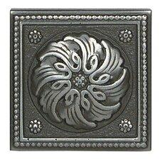 "Metal Ages 2"" x 2"" Celtic Glazed Decorative Tile Insert in Polished Pewter"