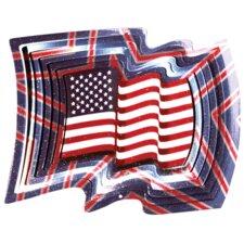 Designer USA Flag Wind Spinner