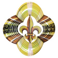 Designer Fleur De Lis Wind Spinner