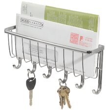 Wall Mountable Mail and Key Rack