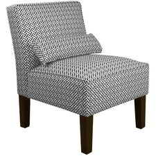 Cross Section Fabric Slipper Chair