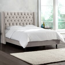 Mystere Upholstered Wingback Bed