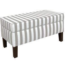 Canopy Stripe Upholstered Storage Bedroom Bench