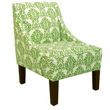 Swoop Arm Chair in Luminary Emerald