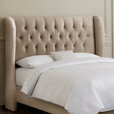 Tufted Velvet Nail Button Upholstered Headboard
