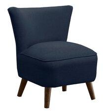 Linen Mid Century Slipper Chair