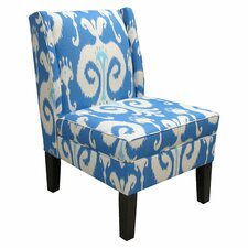 Wingback Himalaya Upholstered Slipper Chair